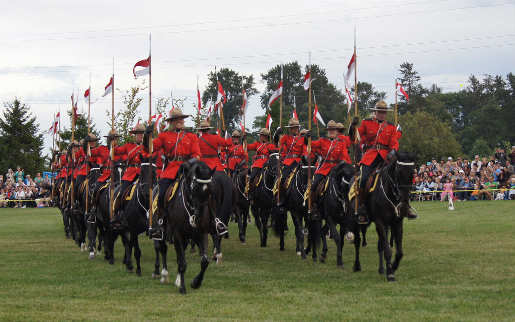 The RCMP Musical Ride came to Richmond for the first time. Fraser River barges provided for a unique backdrop at Twin Oaks equestrian centre.