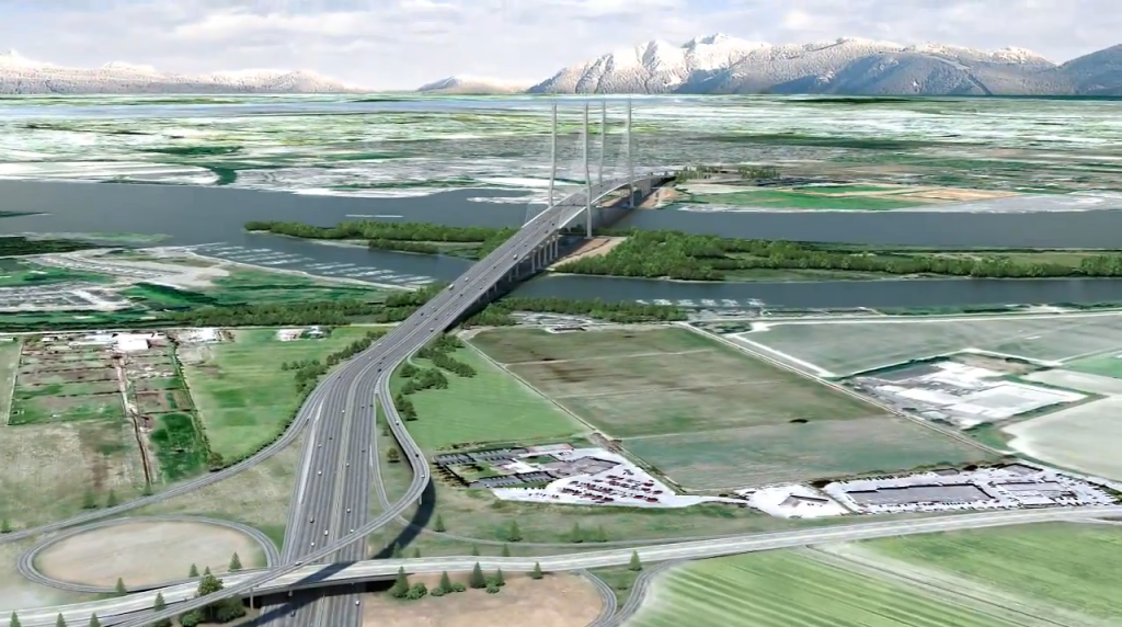 A conceptual design of the  new bridge that will replace the George Massey Tunnel. Construction is slated to begin in 2017.