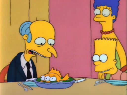 Montgomery Burns, America's favourite nuclear energy executive, can't stomach his own creation.